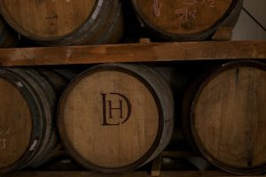 French oak in the barrel room.
